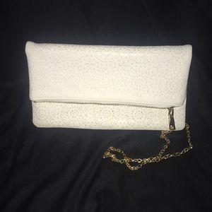 Francesca's White Crossbody bag/clutch